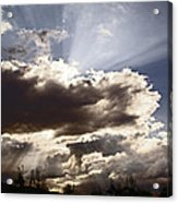 Sunlight And Stormy Skies Acrylic Print by Mick Anderson