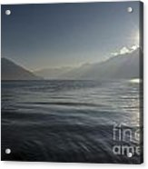 Sunlight Over An Alpine Lake Acrylic Print