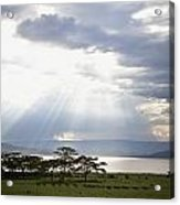 Sunlight Shines Down Through The Clouds Acrylic Print