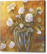 Sunny Carnations In A Vase Acrylic Print