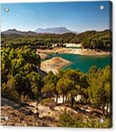Sunny Day In El Chorro. Spain Acrylic Print