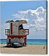 Sunny Day Miami Beach Acrylic Print