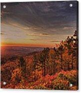 Sunrise 2-talimena Scenic Drive Arkansas Acrylic Print by Douglas Barnard