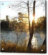 Sunrise Across The Mississippi Acrylic Print