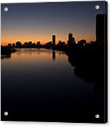Sunrise Along The Charles River, Boston Acrylic Print