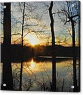 Sunrise Along The Delaware River Acrylic Print