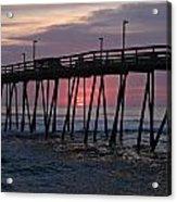 Sunrise At Avalon Pier Acrylic Print