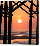 Sunrise At Folly Pier Acrylic Print
