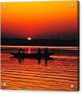 Sunrise At Indian Sea  Acrylic Print
