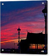 Sunrise At Sisowath Quay. Acrylic Print