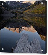 Sunrise At The Maroon Bells Reflected Acrylic Print