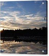 Sunrise At The Pond Acrylic Print