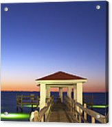 Sunrise At The Texas Gulf Coast Acrylic Print