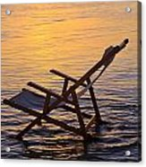 Sunrise Beach Lounging Acrylic Print