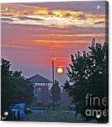 Sunrise From Backyard Acrylic Print