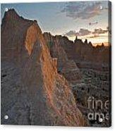Sunrise In Badlands Acrylic Print by Chris Brewington Photography LLC