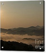 Sunrise In The Mountains Acrylic Print
