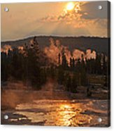 Sunrise Near Yellowstone's Punch Bowl Spring Acrylic Print