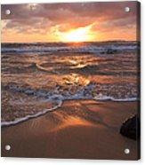 Sunrise On Kauai Coast Acrylic Print