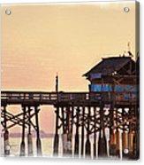 Sunrise On Rickety Pier Acrylic Print