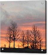 Sunrise On The Hill Acrylic Print