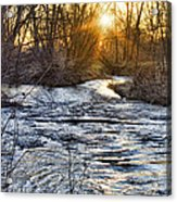 Sunrise On The St Vrain River Acrylic Print