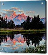 Sunrise On The Tetons Acrylic Print