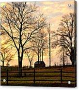 Sunrise Over A Barn Acrylic Print
