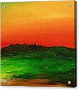 Sunrise Over Cane Field Acrylic Print
