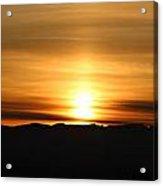 Sunrise Over Cascade Mountains Acrylic Print