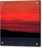Sunrise Over Mallets Bay Colchester Vermont Acrylic Print