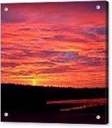 Sunrise Over Miller Bay Acrylic Print