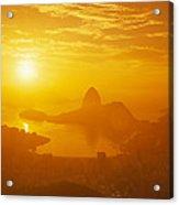 Sunrise Over Rio De Janeiro And Sugar Acrylic Print