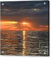 Sunrise Over Ripples Acrylic Print