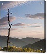 Sunrise Over Shenandoah National Park  Acrylic Print