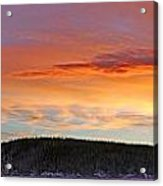 Sunrise Over Teslin Lake, Yukon Acrylic Print