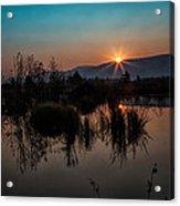 Sunrise Over The Beaver Pond Acrylic Print