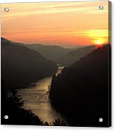 Sunrise Over The Cumberland River At Cumberland Falls State Park Acrylic Print