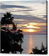 Sunrise Over The Mediterranean Acrylic Print