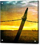 Sunrise Over The Prairie Acrylic Print