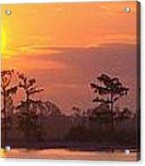 Sunrise Over The River Acrylic Print