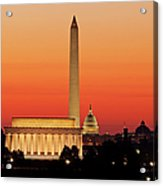 Sunrise Over Washington Dc Acrylic Print