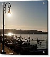 sunrise - First dawn of a spanish town is Es Castell Menorca sun is a special lamp Acrylic Print
