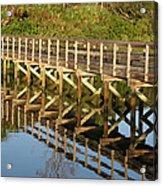 Sunrise Pier Reflection Acrylic Print