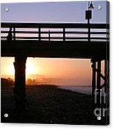 Sunrise Pier Ventura Acrylic Print by Henrik Lehnerer