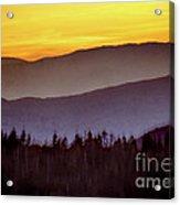 Sunrise Ridges Acrylic Print