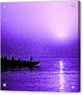 Sunrise Rowing Acrylic Print