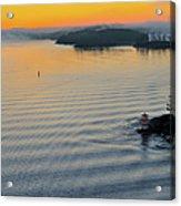 Sunrise Ryssmasterna Lighthouse Sweden Acrylic Print