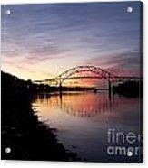 Sunrise Sagamore Bridge Acrylic Print