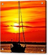 Sunrise Sailing Acrylic Print